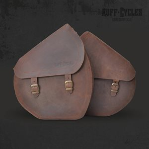 Ruffian brown leather bags (pair)